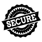 Secure stamp rubber grunge Stock Photography
