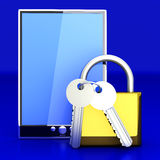 Secure Tablet PC Royalty Free Stock Images