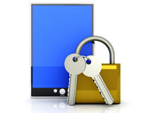 Secure Tablet PC Stock Photo
