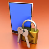 Secure Tablet PC Royalty Free Stock Photos