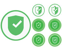 Secure transaction. Icons of a safe transaction for sites Stock Image