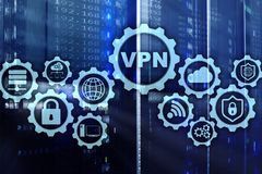 Secure VPN Connection. Virtual Private Network or Internet Security Concept. Secure VPN Connection. Virtual Private Network or Internet Security Concept royalty free illustration