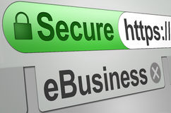 Secure web business transaction Royalty Free Stock Photos