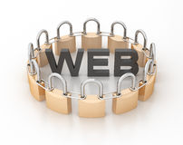 Secure Web made by Circle of Padlock Stock Images