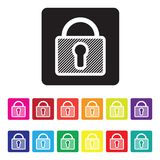 Secure website icon set Royalty Free Stock Photo
