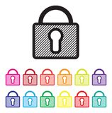 Secure website icon set Stock Images