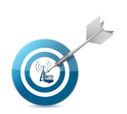 Secure wifi target illustration design Stock Photos