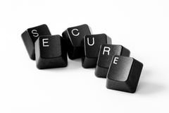 Word secure on white background Stock Photos