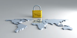Secure World Royalty Free Stock Images
