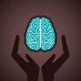 Secure your brain concept. Stock Stock Photos
