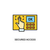 Secured access icon. Secured access. Internet security information protection outline linear icon Royalty Free Stock Photo