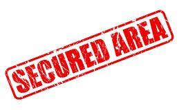 SECURED AREA red stamp text. On white Royalty Free Stock Image