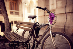 Secured Bicycle Royalty Free Stock Photos