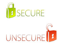 Secured Data. Data is secure and reliable vector illustration