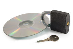 Secured data disc Stock Photography