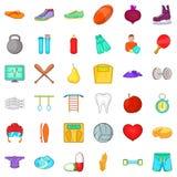 Secured icons set, cartoon style. Secured icons set. Cartoon set of 36 secured vector icons for web isolated on white background Royalty Free Stock Photos