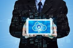 Secured internet cloud computing concept royalty free stock images