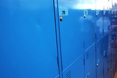 Secured lockers Stock Image