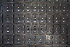Secured Mail Boxes Stock Photo
