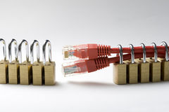 Secured network Royalty Free Stock Image