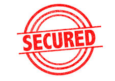 SECURED Rubber Stamp. Over a white background Royalty Free Stock Photo