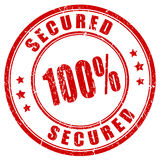100 secured stamp. Vector illustration stock illustration
