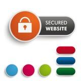 Secured Website Black Orange PiAd Royalty Free Stock Photos