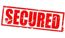 Secured in red frame. Secured word in red frame, 3d rendering stock illustration