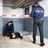 Securing a crime scene Royalty Free Stock Photography