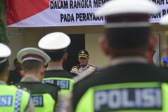 Securing the title Christmas and New Year. Semarang Polrestabes titles held apples forces `Operation Wax 2016` on page Polestabes Semarang, Thursday, December 23 Royalty Free Stock Photos