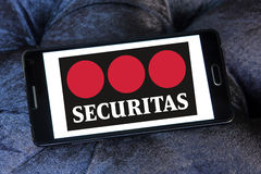 Securitas company logo. Logo of private guard And security company securitas on samsung mobile Royalty Free Stock Images