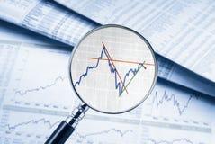 Securities analysis in focus Stock Photo
