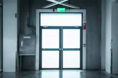 Securities door and fire protection system in department store. Interior royalty free stock photo