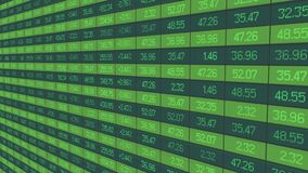 Securities trading statistics, share price indices update on stock market board Stock Photos