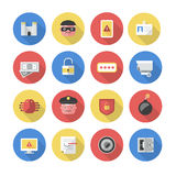 Security � Flat Icons Royalty Free Stock Image