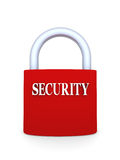 Security. Lock in red color, representing security concept Royalty Free Stock Photos