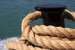 Security. A ship rope. Safety concept Stock Image