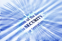 Security. Close up of s security  concept Royalty Free Stock Image