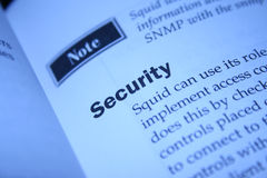 Security. Close up of s security  concept Stock Image