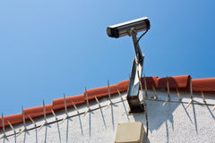 Security. CCTV in the home for security Royalty Free Stock Photography