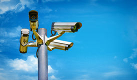 Security. Close up with a security camera Royalty Free Stock Images