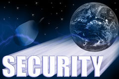 Security 3-D Illustration Stock Images