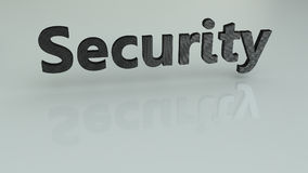 Security 3D text Royalty Free Stock Images