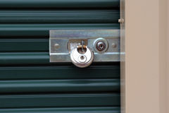 Security. Lock on a ministorage door Stock Photography