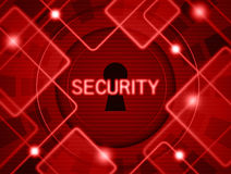 Security. Abstraction of computer security in the keyhole and circuit Royalty Free Stock Image