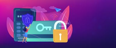 Security access card header banner. stock photography