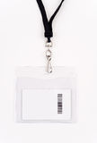 Security Access Card in Lanyard Royalty Free Stock Photos