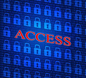 Security Access Represents Login Accessible And Unauthorized Royalty Free Stock Images