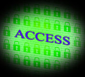 Security Access Represents Protect Encrypt And Accessible Royalty Free Stock Image
