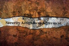 Security agreement text on wall royalty free stock photos